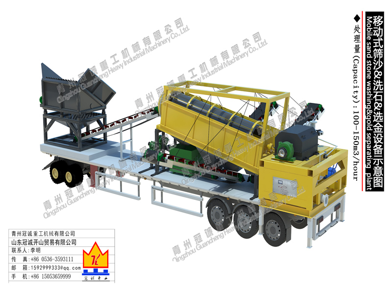 mobile gold mining machine