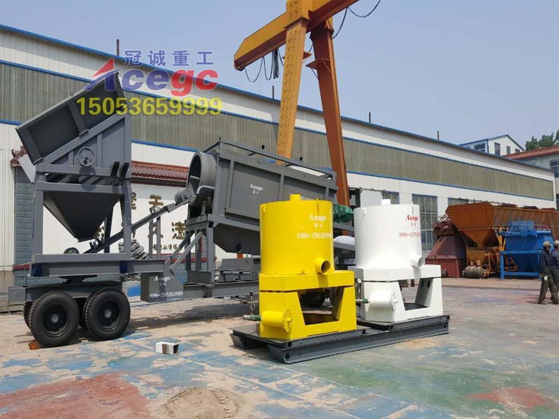 mobile gold trommel plant
