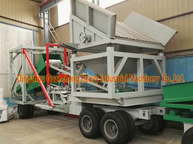 Mobile placer gold selecting machine with good price